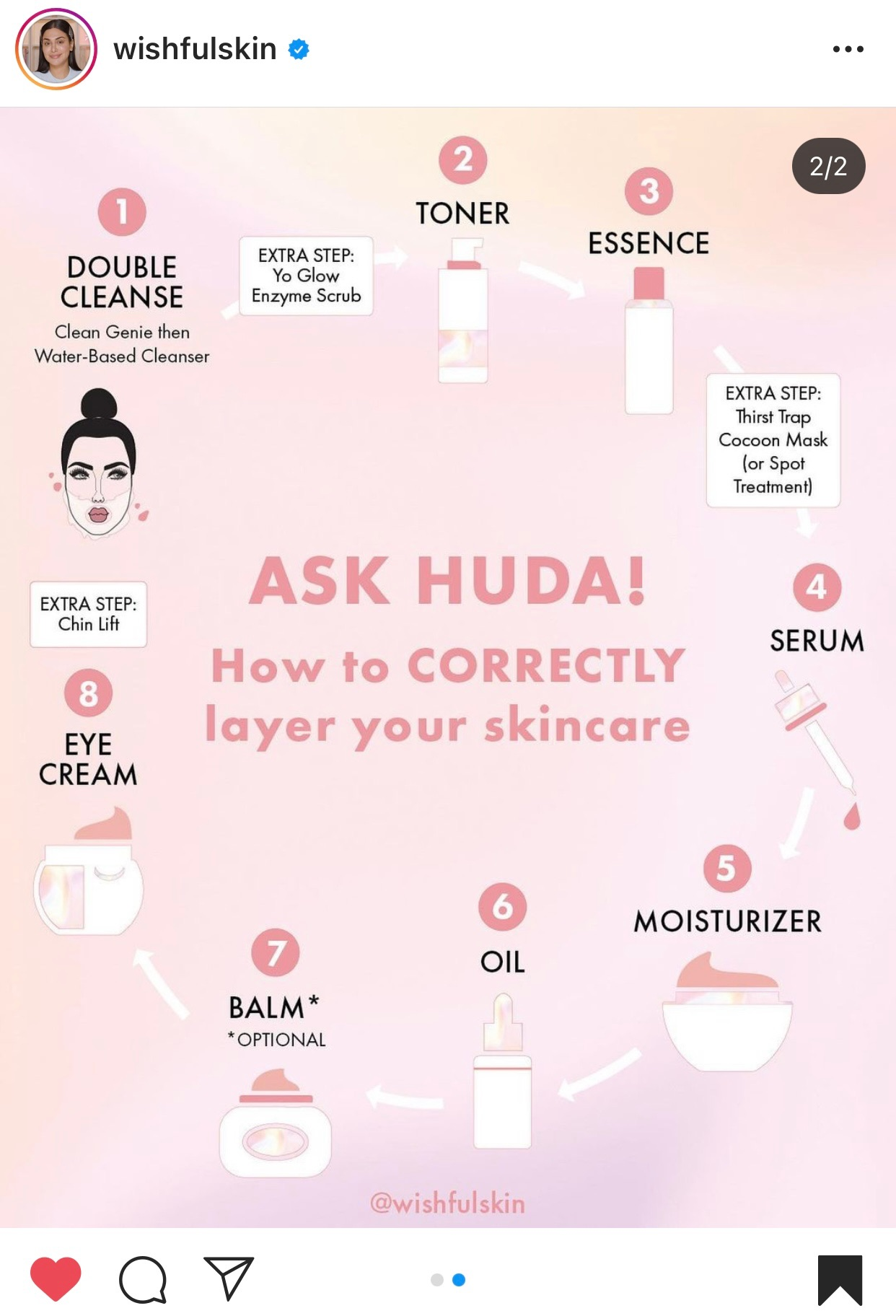 how to layer your skincare correctly from wishfulskin instagram